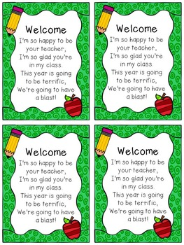 Back to School Student Gift Tags