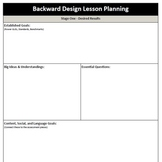 Backward Design - Lesson Plan Template