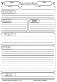 Backward Design Planning Lesson Plan Template