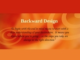 Backward Design--Understanding by Design