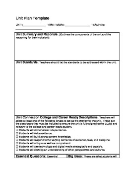 Backward design template for unit planning - Backwards design lesson plan examples ...