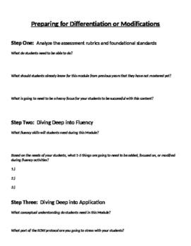 Backward Planning Protocol for Math