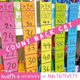 Backward Skip Counting Math Craft - Count Back Cat