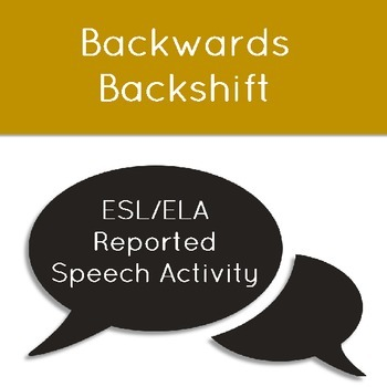 Backwards Backshift: Noticing Reported Speech Changes