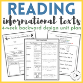 |1st Grade Common Core| Backwards Design Unit Plan Reading Informational Text