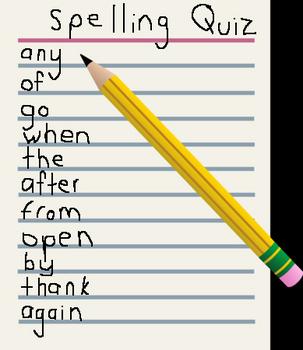 Backwards / Forward Spelling (Complete Dolch Pre-Primer) Game 1