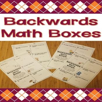 Backwards Math Boxes - Build Numeracy by Working Backwards!