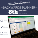 Backwards Planner   8th Grade Math Common Core Standards   FREE Updates