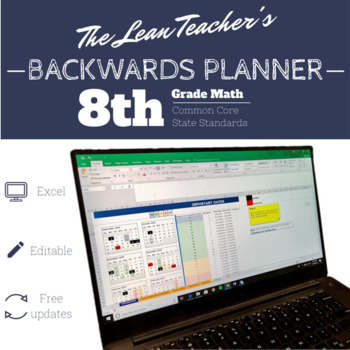 Backwards Planner | 8th Grade Math Common Core Standards | FREE Updates