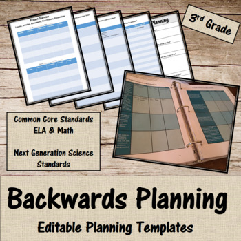 Backwards Planning for 3rd Grade Teachers