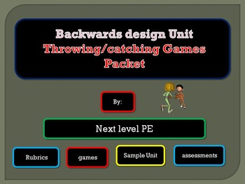 Backwards design throwing and catching unit