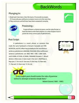 Backwords Vocabulary Game
