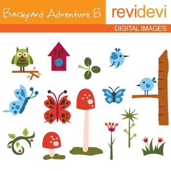 Backyard Adventure B - Clip art
