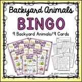 Backyard Animals Bingo