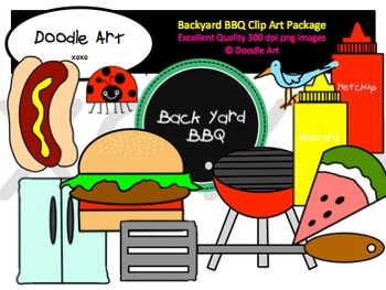 Backyard BBQ Clipart Pack