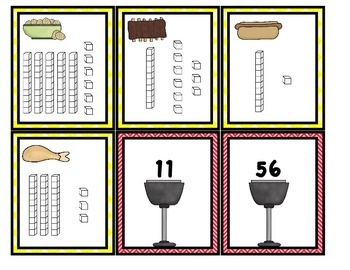 Backyard BBQ: Matching Numerals to Base Tens Blocks, Center or Game
