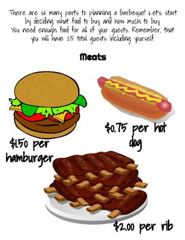 Backyard Barbecue Math Review
