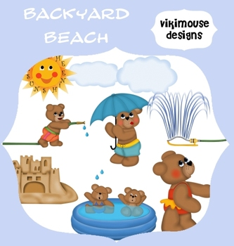 Backyard Beach- Swimming Water Fun Clipart- Digital Download