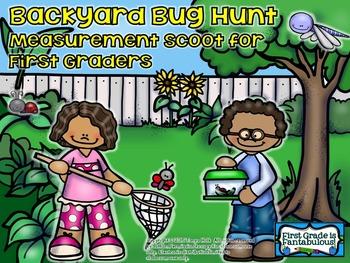 Backyard Bug Hunt Measurement Scoot for First Graders