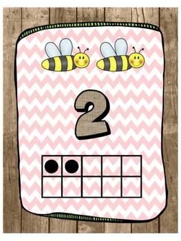 Backyard/ Bug theme Number posters