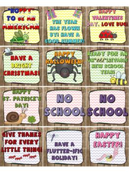 Backyard/ Bug themed Calendar Pack
