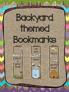 Backyard/ Bug themed bookmarks
