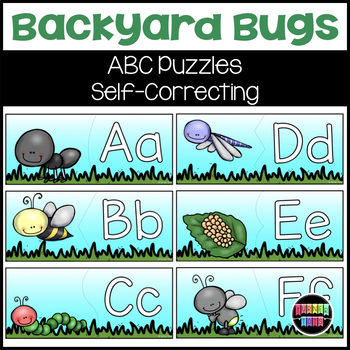Backyard Bugs ABC Self-Correcting Puzzles