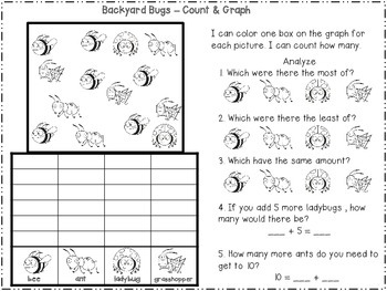 Backyard Bugs Graph It! {Freebie}