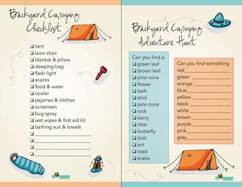 Backyard Camping Checklist & Adventure Hunt