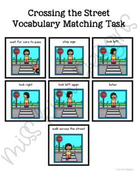Crossing the Street Vocabulary Folder Game for Special Education