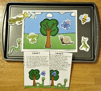 Spring Adapted Book and Vocabulary Activities:  The Wiggly Wiggly Inchworm