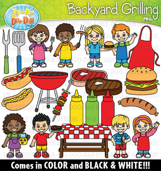 Backyard Grilling Clipart Set {Zip-A-Dee-Doo-Dah Designs}