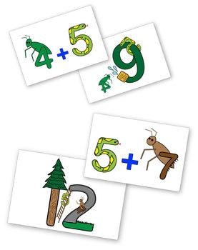 Backyard Math: Addition Flash Cards