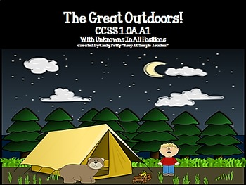The Great Outdoors CCSS 1.OA.A.1