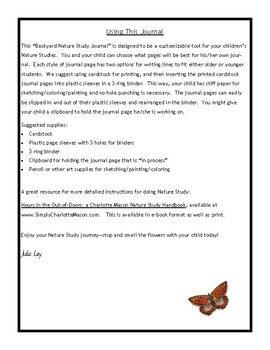 Backyard Nature Study Journal