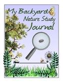 Backyard Nature Study Journal Sample--Freebie