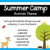 Backyard Summer Camp: Animal Themed
