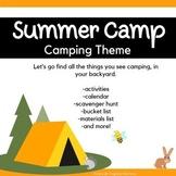 Backyard Summer Camp: Camping!