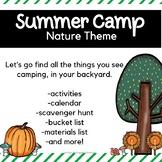 Backyard Summer Camp: Nature Theme