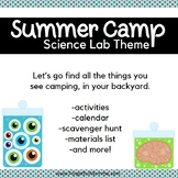 Backyard Summer Camp: Science Lab