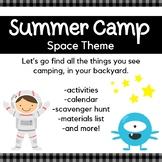 Backyard Summer Camp: Space Theme
