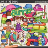 """Backyard Summer Clip Art: """"100 in the Shade"""""""
