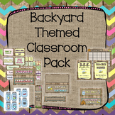 Backyard Theme Classroom Pack