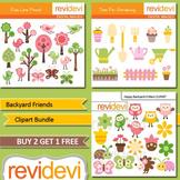 Backyard animals clip art bundle (3 packs) teacher seller toolkit for spring
