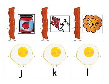 Bacon & Eggs Letter Sound Match