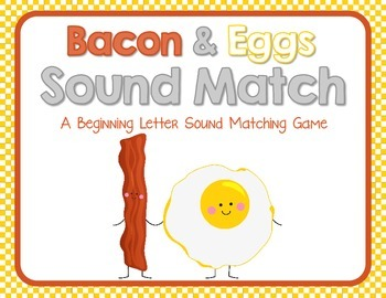 Bacon & Eggs Letter Sound Match