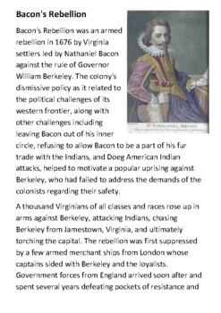 Bacon's Rebellion Handout
