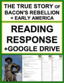 Bacon's Rebellion Nonfiction Reading Response Questions, Answer Key + Google Doc
