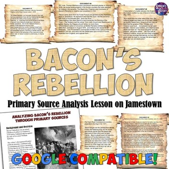 Bacon S Rebellion Primary Source Analysis By Students Of History