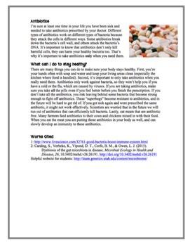 Bacteria: Friend or Foe Close Reading